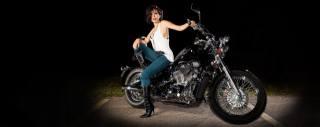 Harley Davidson, Biker babe, мотоцикл, байк