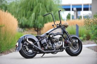Harley Davidson, Knucklehead, Кастом, мотоцикл