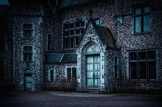 ночь, церковь, тёмный, сумерки