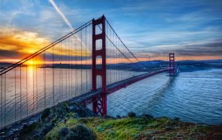 Сан-Франциско, міст, вечір, місто