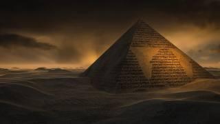 Меняющиеся пески, písek, poušť, pyramida, znaky