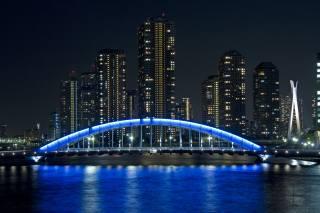 міст, місто, Японія, хмарочоси