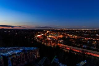 Boston, night, the city, landscape