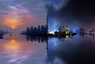 фото Городской пейзаж, ніч, архітектура, будівля, дорога