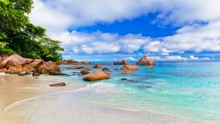 Seychelles, the ocean, shore, sand, stones