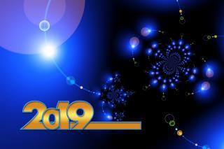 2019, фракталы, Новый год