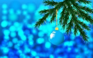 hračka, míč, fir tree, jehličí, Nový rok