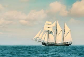 sails, the ocean, the sky
