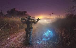 Stalker, hra, чаэс, černobyl, stalker, puška, anomálie