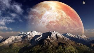 планета, outer, простір, місяць
