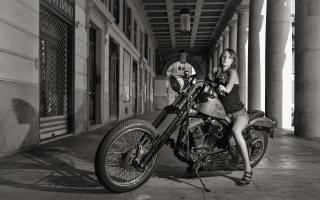 napalm bike, motocykl, bike, holka