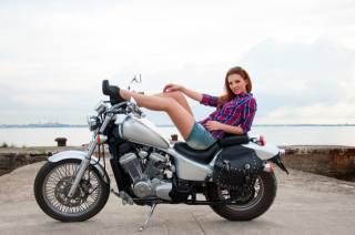 motocykl, bike, holka