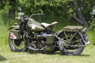 Harley Davidson, motocykl, bike, 1942
