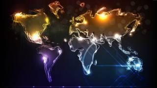 mapa, Mapa světa, 3d