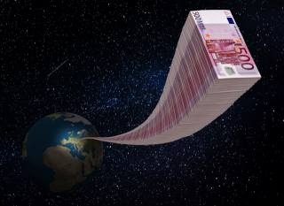 space, earth, money, wealth
