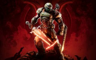 doom, eternal, character, The sword, quality, Wallpaper, for, фанатов