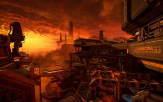 doom, eternal, landscape, the sky, fog, Red, ash