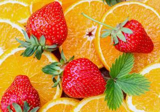 oranges, strawberry, vitamins