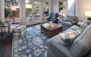 beautiful, furniture, in, гостиной, комнате