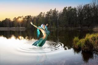 the lake, mermaid