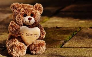 игрушечный, ведмідь, з, сердцем, сидить, на, дорозі