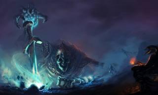 skeleton, crown, The sword