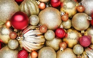 a lot, блестящих, beautiful, новогодних, шариков