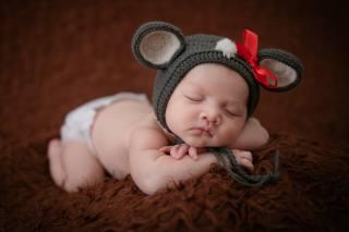 азиаты, baby, sleeping, hat, bow