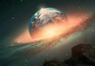 planet, movement, space, fantasy