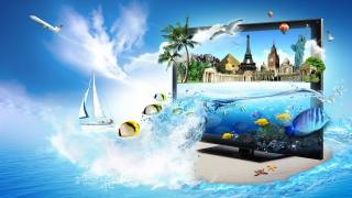 3d, monitor, fish, Seagull, станы