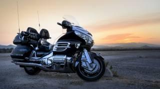 motorcycle, landscape