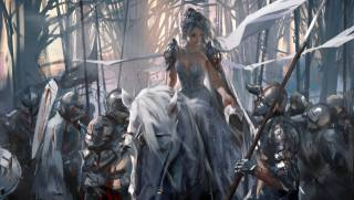 princess, yan, ghostblade, Drawn, by, wlop