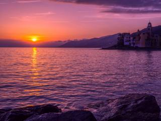 landscape, Italy, evening, sea, the sky