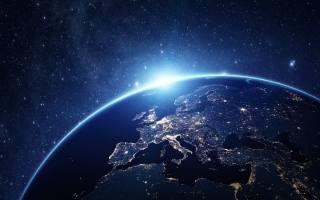 земля, Дивитися, від, простір