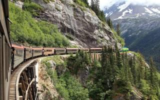 гори, поїзд