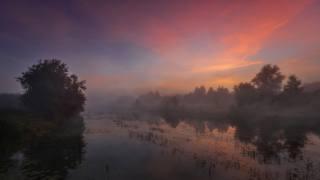 рассвет, река, красиво, фото, Николай Шевченко