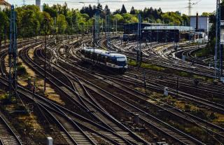 поїзд, шляху, станція