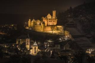 Germany, castle, home, Wertheim, castle, night