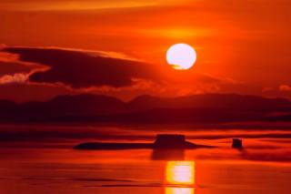 sunset, рейд, submarine