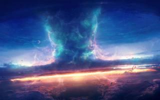 ornado, Natural Disaster, blesk, umělecká díla, sky