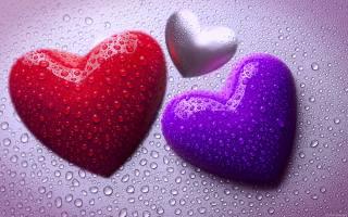 сердечка, колір, краплі