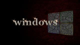 винда, фон, металл, логотип
