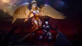 art, fantasy, characters