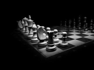 black, white, chess, game