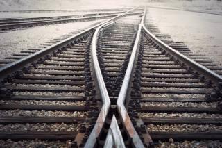 железная дорога, трек, ржавый