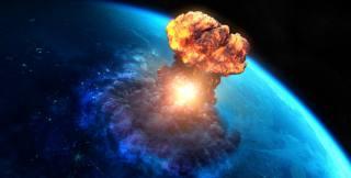 digital art, apocalyptic, meteors, planet