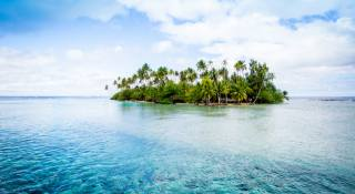 French Polynesia, Tahiti, the ocean, tropical, остров море, palm trees, landscape