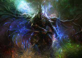 The sword, Warrior, fantasy, art