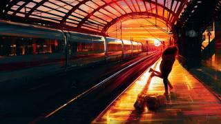 ПАРА, обниматься, вокзал