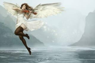 art, fantasy, angel, wings